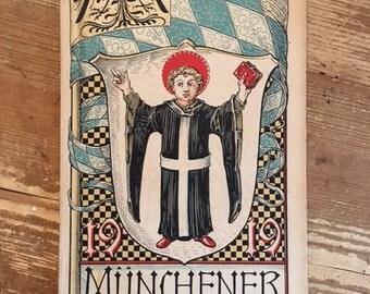 Munich Calendar 1918 Otto Hupp Heraldic Crest Coat of Arms