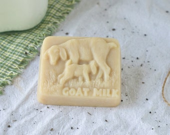 Organic Goat Milk Soap in the shape of a Mama Goat with Kid