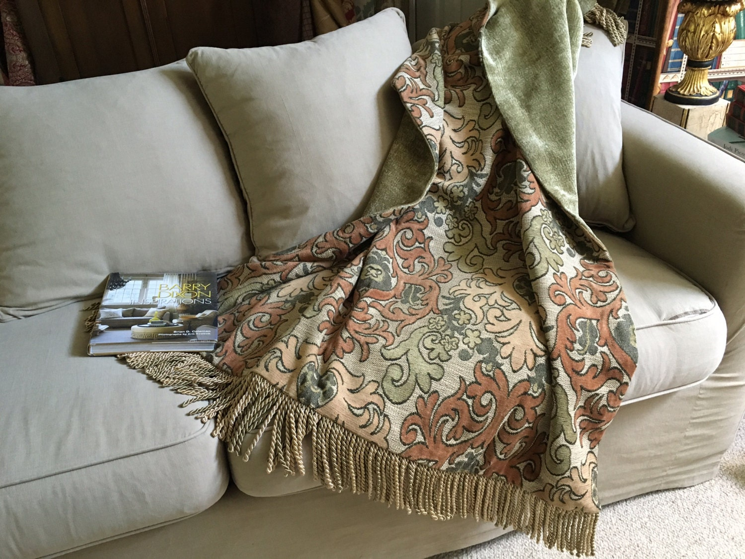 Custom Throw Blanket Moroccan Medallion Tapestry Throw