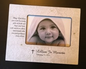 Baptism Keepsake Baptism Gift Christening Gift Godparents Gift Personalized 4x6 Wood Picture Frame Religious Baby Gift Dedication Gift