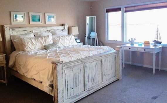 Reclaimed Wood Bedroom Set Bed Bedside By GriffinFurniture