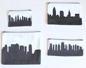 Custom Skyline Silhouette Clutch Purse