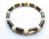 Baltic Amber Green Bracelet For Unisex Adults