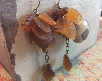 Dramatic Fluttering Leaves Earrings