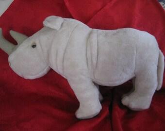 Vintage 1977 Dakin Pillow Pets Rhinoceros