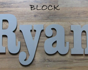 """Wooden Wall Letters - Painted - 6"""" Size - Block plus Various other Fonts - Gifts and Decor for Nursery - Home - Playrooms - Dorms"""