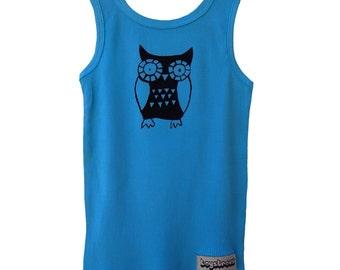 Hoot Hoot Owl Screen Print Singlet