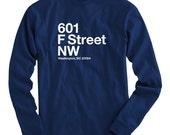 LS Washington D.C. Hockey Stadium Tee - Long Sleeve T-shirt - Men S M L XL 2x 3x 4x - Washington DC Shirt, Arena, Capital, Sports - 4 Colors