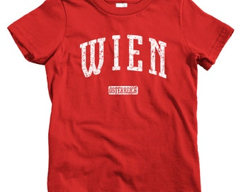 Kids Wien Austria T-shirt - Baby, Toddler, and Youth Sizes - Vienna Tee, Austrian, Österreich - 4 Colors