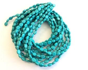 fine genuine blue magnesite Gemstone Beads# 33739