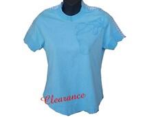 SHOULDER TOP, girl's shoulder shirt, fits junior Large, post shoulder surgery, post op shirt, rotator cuff surgery dressing, physical