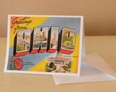 Ohio vintage Postcard Greeting Card