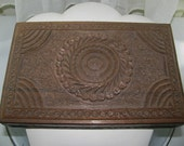 Vtg carved teak box