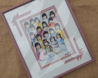 """Ted DeGrazia """"Children's Choir""""  ~  Framed Ted DeGrazia Print Titled Children's Choir  ~  Ted DeGrazia Artist"""