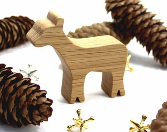 Wooden Toy Deer, Woodland Animal, Forest Animal, Doe, Handmade Wood Toy, Natural Wood Toy, Kids Toys, Kids Wooden Toy