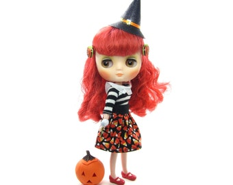 Middie Blythe Skirt with Candy Corn for Halloween