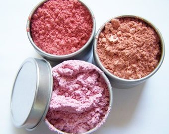 Mineral Makeup Blush Or Bronzer In A Tin - Mineral Blush Powder - Zero Waste Mineral Blush - Choose your color - Vegan Friendly