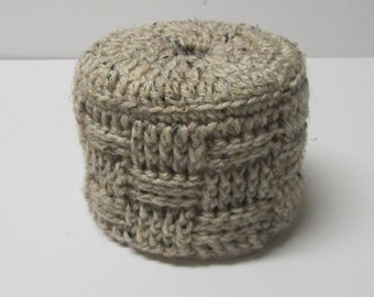 Toilet Paper Cover, Toilet Paper Cozy, Basketweave ~Oatmeal~