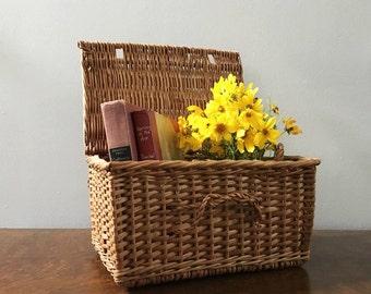 Vintage French Flat Top Basket