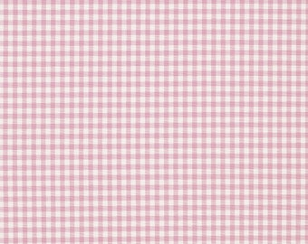 Laura Ashley gingham check pink. 100% cotton fabric.