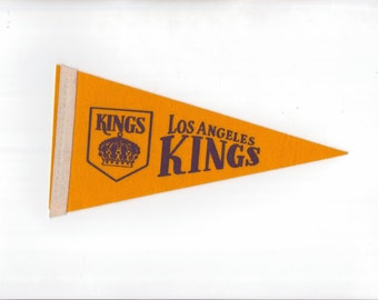 Los Angeles LA Kings Vintage Hockey Pennant 4 x 8 Inch Mini Pennant Flag 1969 Ice Hockey Felt Mini Pennant Sports Gift Stocking Stuffer vtg