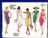 Vogue 2657 Resort Dresses with Pencil Skirt & Back Detail Variations Size 8..10..12 UNCUT