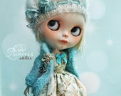 BLYTHE Ooak Set CORNFLOWER By Odd Princess Atelier, Shabby Chic, Hand Made, New Collection, Special Outfit