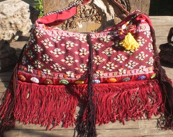 Karen Hilltribe Textile Tribal Shoulder Bag