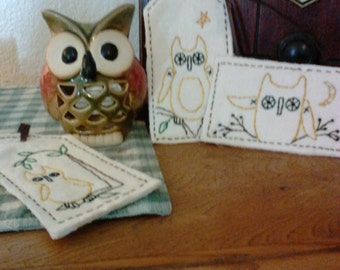 Primitive Fabric Tags, Owls!