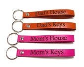 Personalized Key Fob, Leather Key Fob, Leather Key Chain, Gifts Under 10, Mother's Day Gift, Father's Day Gift