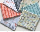 ORGANIC Landscape Fabric FAT QUARTER Bundle  for Cloud 9 Fabrics - Seven Fat Quarters Total