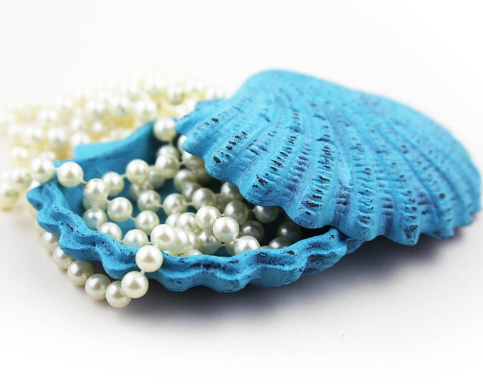Wedding Gifts Caribbean Box for Jewelry Blue Distressed by SEASTYLE