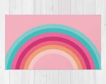 Fantasy Colours Rainbow Arch Area Rug 2x3, Rainbow Floor Rugs 3x5, Rainbow Arch Modern Rug 4x6, Nursery rug