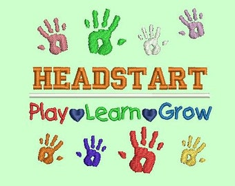 Headstart machine embroidery design - 4x4