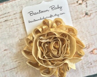Gold Flower Girl, Gold Barrette. Gold Hair Clip. Gold Flower Girl. Gold Flower Girl.