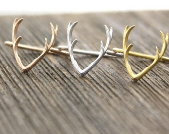 ANTLERS ring >> rose gold deer antler << proceeds donated to Humane Society