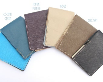 Leather Card Case, Leather Business Card Wallet, Business Card Holder, Simple Credit Card holder, Credit Card Case