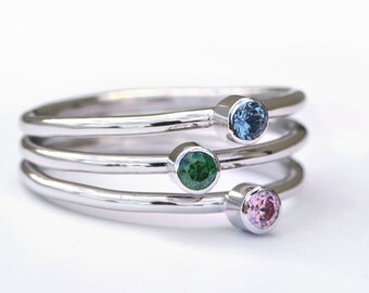 Birthstone Ring, Family Ring, Birthstone Jewelry, Grandmother's Ring, Mothers Ring, Multi-stone Ring, Family Jewelry, Mothers Jewelry