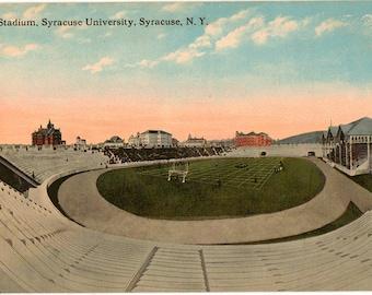 Vintage Postcard, Syracuse, New York, Syracuse University, Football Stadium, ca 1910