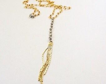 Sleek mixed metal necklace