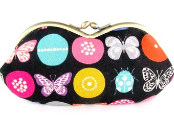 Soft Eyeglass Case - Eye Glass Case - Sunglasses Case - Cute Glasses Case - Sunglass Case - Glasses Case Kiss Lock