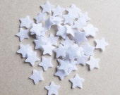 Felt Star MINI White, 50 pieces, felt die cut, confetti, felt supplies, Pre cut felt shapes, wedding confetti