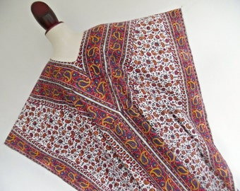 INDIA . Summer Breeze . Superb Cotton Maxi Dress 70s Paisley Print Pure Cotton One Size Osfa OS L Xl xxL 1x 2x xxxL