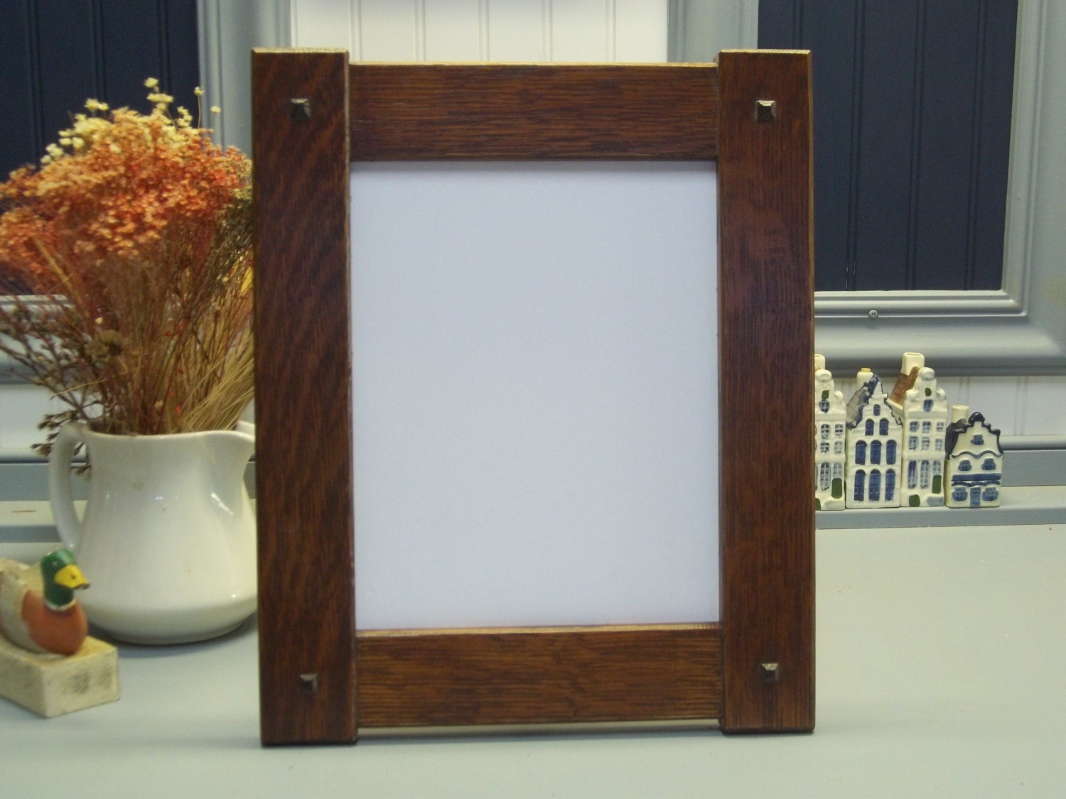 arts craft mission style oak picture frame 8 x10 available On picture frame arts and crafts