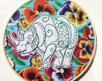 Rhino Hoop Art
