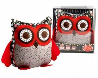 Large Owl Pin Cushion, Sewing Gift, Needle Cushion, Decorative Pin Cushion