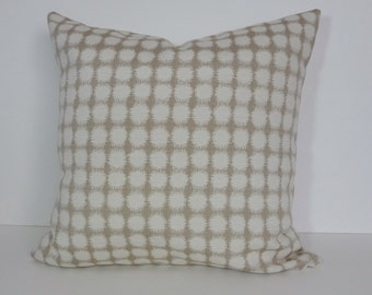 Decorative Pillow Cover, Tan, Beige Pillow Cushion Cover, 20 x 20