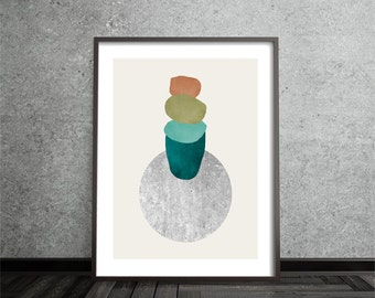 Minimalist, Contemporary, Abstract Print, Art, Poster, Graphic, Mid Century, Modern