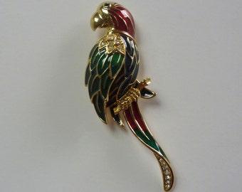 Vintage Swarovski Parrot Pin Brooch #92730306