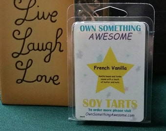 French Vanilla Soy Tart Melts - Scented Wax Bar